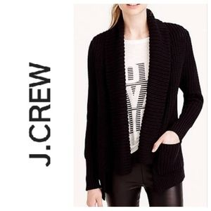 J.Crew Open front rib-stitched cardigan
